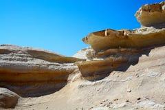 Sandstone rocks in Cyprus Royalty Free Stock Photos