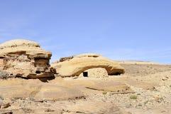 Sandstone rocks in Jordan desert. Stock Photography