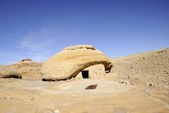 Sandstone rocks in Jordan desert. Royalty Free Stock Photography