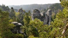 Sandstone rocks. In the National park Bohemian Paradise Royalty Free Stock Image