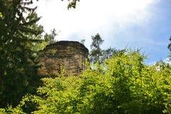 Sandstone rocks in National park Bohemian Paradise Stock Photos