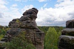 Sandstone rocks - Prachovske skaly Prachov Rocks Royalty Free Stock Photography