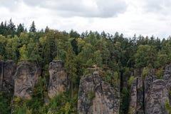 Sandstone rocks - Prachovske skaly Prachov Rocks Stock Photo