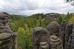 Sandstone rocks - Prachovske skaly Prachov Rocks Stock Images