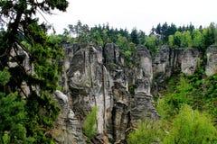 Sandstone rocks Prachovské Skály Stock Image