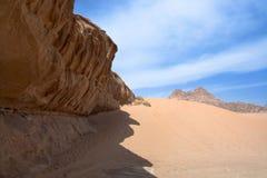 Sandstone rocks in Wadi Rum desert Stock Photography