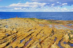 Sandstone rocky shore - La Perouse, Sydney Stock Photos