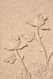 Sandstone roses Royalty Free Stock Images