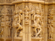 Sandstone sculptures of people in India royalty free stock photo