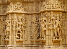 Sandstone sculptures of people in India Royalty Free Stock Images