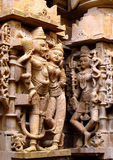 Sandstone sculptures of people in India Royalty Free Stock Photos