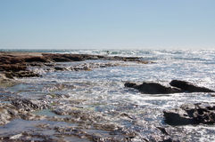 Sandstone and Sea: Jake's Point, Kalbarri Stock Photo
