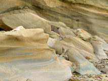 Sandstone sediment smoothed and rounded by water Stock Photography