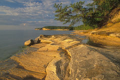 Sandstone Shoreline Lake Superior Stock Photography