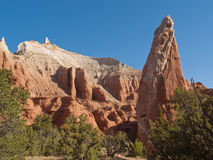Sandstone spires in desert canyon Royalty Free Stock Images