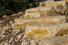 Sandstone stairs Stock Photography