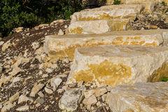Sandstone stairs Royalty Free Stock Photography