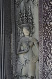 Sandstone statue of an Apsara dancer Stock Photo