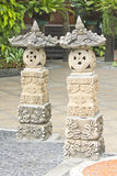Sandstone statue at Chonburi historical park Stock Photo