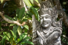 Sandstone statue of Hindu god Royalty Free Stock Image