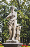 Sandstone statue in the Saxon Garden, Warsaw, Poland Stock Images