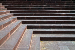 Sandstone steps in sunlight light and shadows design Royalty Free Stock Photo