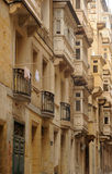 Sandstone streets, Valetta, Malta. Royalty Free Stock Image