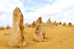 Sandstone structures in the Pinnacles desert, Western Australia Royalty Free Stock Photography