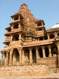 Sandstone temple jodhpur. Sandstone temple in jodhpur. Constructed by kings these were beautifully decorated with carvings Royalty Free Stock Photography