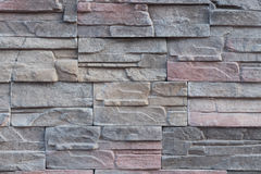 Sandstone tile background. Wall decoration with natural sandstone Stock Photography