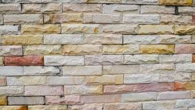 Sandstone tiles wall Stock Photo