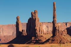 Sandstone Totem Pole Stock Photo