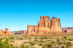 Sandstone Tower Organ. Organ - Sandstone Tower in Arches National Park Royalty Free Stock Photos