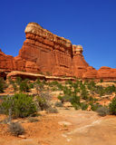 Sandstone wall. The sandstone wall carved by the nature in Canyonlands National Park Royalty Free Stock Photos