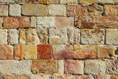 Sandstone wall Stock Images