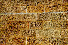 Sandstone wall. Close up of sandstone wall background royalty free stock photo