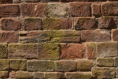 Sandstone wall. Royalty Free Stock Images