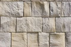 Sandstone wall. Closeup of sandstone wall with mortar royalty free stock photo