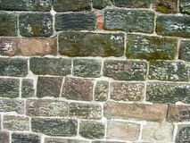 Sandstone wall. An old sandstone brick wall stock image