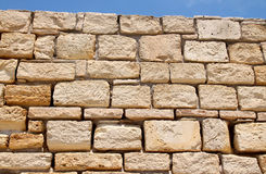 Sandstone wall. Ancient sandstone wall in Paphos, Cyprus stock photography