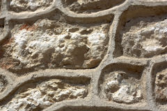 Sandstone Wall Honeycomb Structure Stock Images