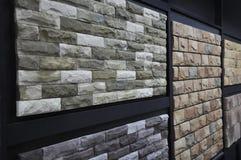 Sandstone Wall Texture Showroom Stock Photo