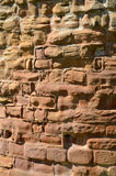 Sandstone wall, Warwick Castle Royalty Free Stock Photo