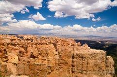 Sandstone walls of Bryce canyon. Bryce Canyon National Park grand vista Royalty Free Stock Photos