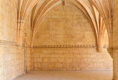Sandstone walls, Mosteiro dos Jeronimos Royalty Free Stock Photo