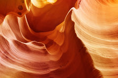 Sandstone waves in antelope canyon Royalty Free Stock Photos