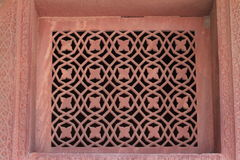 Sandstone Window. A standstone window in Fatehpur Sikri Royalty Free Stock Photos