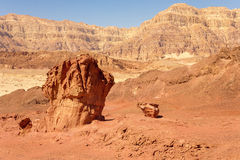 Sandstones in Timna park Royalty Free Stock Photography