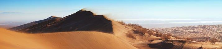 Sandstorm in desert Stock Photos