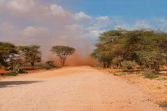 Sandstorm in  Desert, Kenya Stock Photos